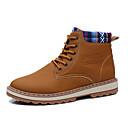 cheap Men's Boots-Men's Snow Boots PU(Polyurethane) Fall Boots Mid-Calf Boots Black / Blue / Khaki