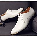 baratos Oxfords Masculinos-Homens Sapatos Confortáveis Couro Ecológico Primavera & Outono Oxfords Preto / Branco / Azul