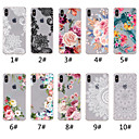 hesapli iPhone Kılıfları-Pouzdro Uyumluluk Apple iPhone XR / iPhone XS Max Şeffaf / Temalı Arka Kapak dantel Baskı / Çiçek Yumuşak TPU için iPhone XS / iPhone XR / iPhone XS Max