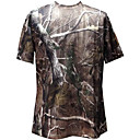cheap Hiking T-shirts-Men's Camo Hiking Tee shirt Outdoor Fast Dry Breathability Wearable Stretchy Tee / T-shirt N / A Hunting Camping / Hiking / Caving Back Country Brown / Brown+Gray