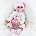cheap Reborn Doll-NPKCOLLECTION NPK DOLL Reborn Doll Girl Doll Baby Girl Reborn Baby Doll Silicone - Newborn lifelike Cute Lovely Parent-Child Interaction Hand Rooted Mohair Kid's Toy Gift / Hand Applied Eyelashes