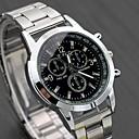 ieftine Oțel Inoxidabil-Bărbați Ceas Elegant Quartz Oțel inoxidabil Argint Ceas Casual Analog Modă Ceas Global - Alb Negru Un an Durată de Viaţă Baterie