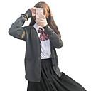 preiswerte Karriere & Beruf-Kostüme-Schüler / Schuluniform Schulmädchen JK Uniform Erwachsene Weiterführende Schule Damen Mädchen Cosplay Kostüme Austattungen Für Halloween Leistung Baumwolle Polyester Einfarbig Mantel Hemd Rock