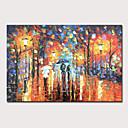 זול ציורי נוף-ציור שמן צבוע-Hang מצויר ביד - מופשט L ו-scape מודרני ללא מסגרת פנימית / בד מגולגל