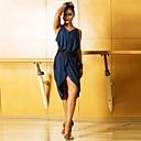 preiswerte Kleidung für Lateinamerikanischen Tanz-Latein-Tanz Kleider Damen Leistung Elasthan Muster / Druck / Horizontal gerüscht Ärmellos Kleid