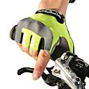 billige Cykeltrøjer-ROCKBROS Cykelhandsker Åndbart Anti-glide Svedreducerende Beskyttende Halv Finger Aktivitets- / Sportshandsker Lycra Bjerg Cykling Grøn for Børne Udendørs