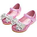 זול Kids' Flats-בנות נוחות / נעליים לילדת הפרחים PU שטוחות פעוט (9m-4ys) / ילדים קטנים (4-7) פפיון / פאייטים כסף / כחול / ורוד אביב / סתיו / חתונה / מסיבה וערב / חתונה / גומי / גומי תרמופלסטי TPR