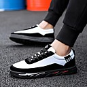 cheap Men's Sneakers-Men's Comfort Shoes PU(Polyurethane) Spring Sneakers Black / White / White / Silver / White / Green