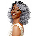 cheap Synthetic Lace Wigs-Synthetic Wig Body Wave Style Bob Capless Wig Ombre Black / White Synthetic Hair 14INCH Women's Odor Free / Adjustable / Heat Resistant Ombre Wig Short Cosplay Wig / Yes