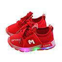 povoljno Dječje tenisice-Djevojčice Mrežica Sneakers Dijete (9m-4ys) / Mala djeca (4-7s) Svjetleće tenisice LED Obala / Crvena / Pink Proljeće / Guma