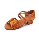 זול נעליים לטיניות-בגדי ריקוד נשים נעלי ריקוד סטן נעליים לטיניות עקבים עקב עבה מותאם אישית כסף / נמר / עירום / הצגה / עור