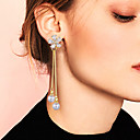 povoljno Modno prstenje-Žene Kubični Zirconia visiti Naušnice Naušnice sprijeda i straga Viseće naušnice Long Stilski Jedinstven dizajn Naušnice Jewelry Zlato Za Vjenčanje Angažman Dar Nova Godina 1 par