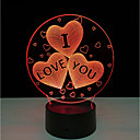 cheap Décor Lights-Acrylic 7 Color Changing USB Charge 3D Heart I Love You Led Night Light With 3D Luminous Decor Table Lamp Nightlight 5V
