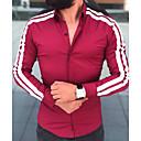 abordables Camisas de Hombre-Hombre Camisa A Rayas Negro L
