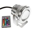 halpa Vedenalaiset valot-YouOKLight 1kpl 10 W Vedenalaiset valaisimet Etäohjattu RGB 12 V Uima-allas 1 LED-helmet