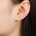 hesapli Moda Küpeler-Kadın's Vidali Küpeler Çiçek Koreli Moda sevimli Stil Small İmitasyon İnci Küpeler Mücevher Altın / Beyaz Uyumluluk Doğumgünü Günlük Randevu 1 çift