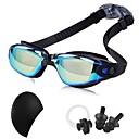 זול Swim Goggles-משקפי שחייה עמיד למים מאמן משקפי שחייה נגד ערפל שיקוף גומי PC שחור כחול כהה זהב כהה כחול כהה כסף