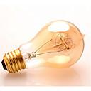 preiswerte Glühlampen-1pc 40 W E26 / E27 A60(A19) Warmes Weiß 2200-2300 k Retro / Abblendbar / Dekorativ Glühbirne Vintage Edison Glühbirne 220-240 V