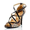 povoljno Smart Lights-Žene Plesne cipele Saten / PU Cipele za latino plesove Kopča / Isprepleteni dijelovi Sandale / Štikle Tanka visoka peta Moguće personalizirati Leopard / Seksi blagdanski kostimi