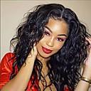 povoljno Perike s ljudskom kosom-Ljudska kosa Lace Front Perika Slobodni dio stil Brazilska kosa Wavy Crna Perika 130% Gustoća kose s dječjom kosom Prirodna linija za kosu Za crnkinje 100% Djevica 100% rađeno rukom Žene Dug Perike s