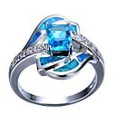 hesapli Moda Bileklikler-Kadın's Nişan yüzüğü Moda Yüzükler Mücevher Açık Mavi Uyumluluk Hediye Günlük