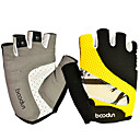 cheap Cycling Pants, Shorts, Tights-BOODUN Bike Gloves / Cycling Gloves Mountain Bike Gloves Breathable Anti-Slip Sweat-wicking Protective Half Finger Sports Gloves Lycra Mountain Bike MTB Yellow Red for Adults' Outdoor