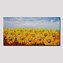 povoljno Apstraktno slikarstvo-Hang oslikana uljanim bojama Ručno oslikana - Sažetak Cvjetni / Botanički Moderna Uključi Unutarnji okvir