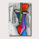 abordables Peintures Abstraites-Peinture à l'huile Hang-peint Peint à la main - Abstrait Contemporain Moderne Inclure cadre intérieur