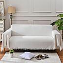 abordables Couvertures & Plaids-Jet de canapé, Couleur Pleine Polyester Frange Confortable couvertures