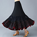 abordables Ropa para Baile de Salón-Baile de Salón Pantalones y Faldas Mujer Entrenamiento / Rendimiento Poliéster / Malla Encaje / Fruncido / Combinación Cintura Alta Faldas