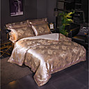 cheap Floral Duvet Covers-Duvet Cover Sets Luxury Polyster Jacquard 4 PieceBedding Sets