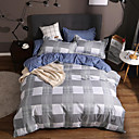 cheap Solid Duvet Covers-Duvet Cover Sets Luxury / Stripes / Ripples / Contemporary Polyster Printed 4 PieceBedding Sets