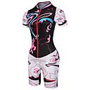 cheap Triathlon Clothing-Malciklo Women's Triathlon Tri Suit - Black Pink Floral / Botanical Bike Breathable Sports Floral / Botanical Road Bike Cycling Clothing Apparel / Stretchy / YKK Zipper / Race Fit / Italian Ink