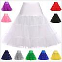 cheap Historical & Vintage Costumes-Princess Lolita 1950s Women's Petticoat Hoop Skirt Tutu Under Skirt Crinoline Cosplay Pink / Ink Blue / Ivory Knee Length Costumes