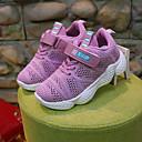 זול נעלי ילדים אתלטי-בנות נוחות רשת נעלי אתלטיקה ילדים קטנים (4-7) / ילדים גדולים (7 שנים +) ריצה סקוטש שחור / ורוד אביב / קיץ