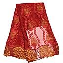 billiga Hantverk och sömnad-Afrikansk spets Blommig Mönster 120 cm bredd tyg för Kläder och mode såld vid Yard