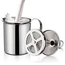 abordables Ropa para Perro-Espuma doble de leche de acero inoxidable crema de leche para capuchinos jarras de leche batidor de huevo herramienta de cocina gadgets
