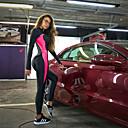 halpa Kuntoilu-, juoksu- ja joogavaatetus-Naisten Patchwork Workout Jumpsuit Urheilu 3D Print Korkea vyötärö Pyöräily Sukkahousut Juoksu Fitness Kuntosaliharjoitus Activewear Butt Lift Vatsatuki Power Flex Erittäin elastinen Hoikka