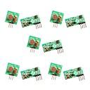 billige Motherboards-5pcs 433mhz rf trådløs sender og modtager modul link kit til arduino / arm / mcu / hindbær pi / trådløs diy