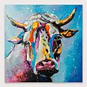 זול ציורים מופשטים-iarts&רג 'צבוע ביד ציור שמן פרה עם מסגרת מתוח עבור קישוט הבית