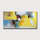 levne Abstraktní malby-Hang-malované olejomalba Ručně malované - Abstraktní Květinový / Botanický motiv Klasické Moderní Bez vnitřní rám / Válcované plátno