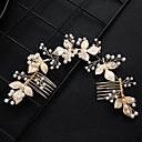 hesapli Moda Küpeler-Kadın's Moda sevimli Stil İmitasyon İnci alaşım Nişan - Çiçekli