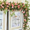 halpa Tekokukat-Keinotekoinen Flowers 1 haara Keskeytetty Häät Pastoraali Tyyli Ruusut Seinäkukka