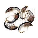 billige Fiskelokkere og -fluer-6 pcs Flyer Blink Flyer orm Fjer Stål Blandet Materiale Synkende Havfiskeri Fluefiskeri Madding Kastning