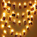 halpa LED-hehkulamput-1 sarja johti merkkivalo 20 valoa valokuvaleike yövalo akku laatikko valot