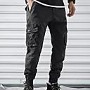 povoljno Muške duge i kratke hlače-Muškarci Osnovni Chinos Hlače - Jednobojni Sive boje Vojska Green Žutomrk 34 36 38