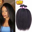 halpa Aitohiusperuukit-4 pakettia Brasilialainen Kinky Straight Käsittelemätön aitoa hiusta Bundle Hair Aitohiuspidennykset Kudotut 8-28 inch Luonnollinen väri Hiukset kutoo Vastasyntynyt Pehmeä Paras laatu Hiukset