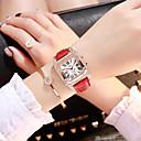 halpa Kuntoilu-, juoksu- ja joogavaatetus-Naisten Quartz Muoti Musta Valkoinen Punainen PU Leather Kiina Quartz Musta Rubiini Punastuvan vaaleanpunainen Arkikello jäljitelmä Diamond 1 kpl Analoginen