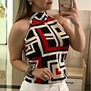 povoljno Kompletići za djevojčice-Potkošulja Žene Color block Red XXL