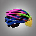 abordables Casques de Cyclisme-Basecamp Adulte Casque de Vélo avec Lunettes de Protection Lentille magnétique 16 Aération Intégralement moulé Réglable Ventilation EPS PC Des sports Vélo tout terrain / VTT Cyclisme sur Route - Noir